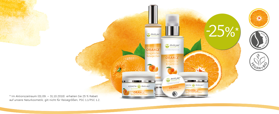 Kosmetik Aktion Orange Rabatt